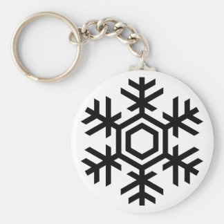 Black & White Snowflake Key Ring