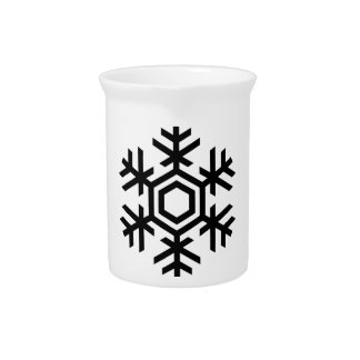 Black & White Snowflake Pitcher