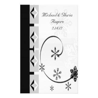 Black & White Snowflake Wonderland Custom Stationery