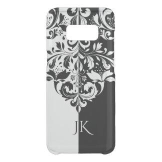Black & White Spit Screen Floral Ornament Uncommon Samsung Galaxy S8 Case