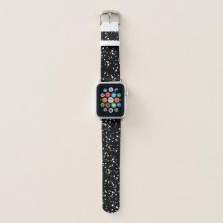 Black & White Splatter Pattern Apple Watch Band
