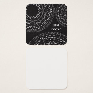 Black & White Square Notes for Writing Messages / Square Business Card