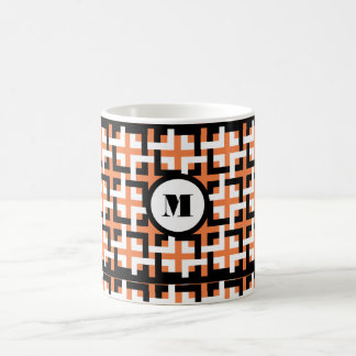 Black-White Squares and Orange Mug