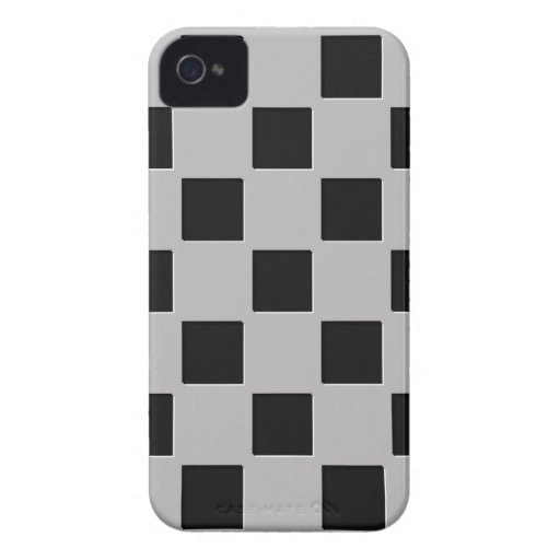 Black White Squares Pattern Blackberry Bold Case Case-Mate iPhone 4 Cases