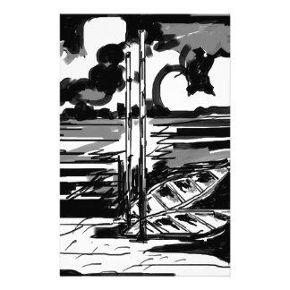 Black & White Stationery