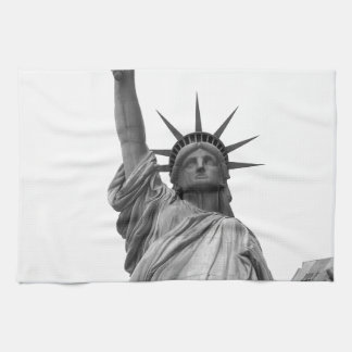 Black & White Statue of Liberty Tea Towel