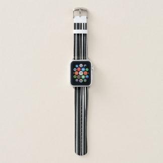Black & White Stripe Pattern Apple Watch Band