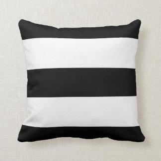 Black & White Stripe Striped Stripes Cotton Pillow