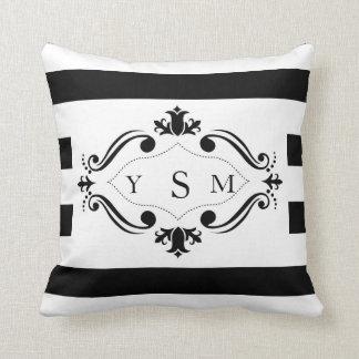 Black & White Stripe Throw Pillow