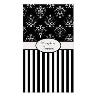 Black & White Striped Baroque Reception Pack Of Standard Business Cards