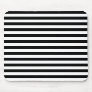 Black & White Striped Mouse Pad