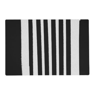 Black White Stripes Cool Simple Patterns Placemat
