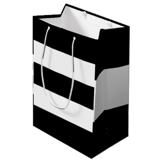 Black White Stripes Medium Gift Bag