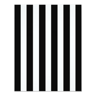 Black White Stripes Pattern Straight Lines Zebra Card