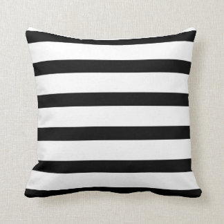 Black & White Stripes Polyester Pillow