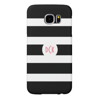 Black & White Stripes Samsung Galaxy S6 Cases
