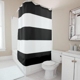 Black White Stripes Shower Curtain