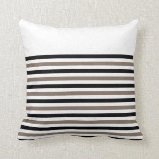 Black White Stripes with CUSTOMIZABLE ACCENT Throw Pillow