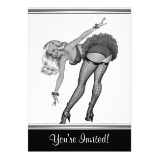 Black & White Style Pin-Up Girl 19 Announcements