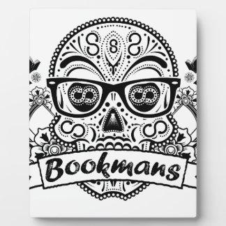 Black & White Sugar Skull W/ Glasses Display Plaques