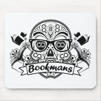 Black & White Sugar Skull W/ Glasses Mouse Pad