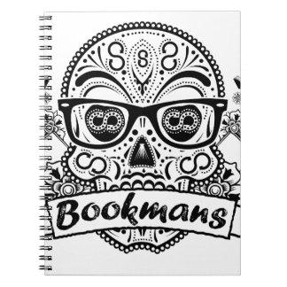 Black & White Sugar Skull W/ Glasses Notebooks