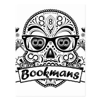 Black & White Sugar Skull W/ Glasses Postcard