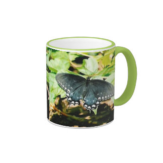 Black White Swallowtail Butterfly Photo Mugs