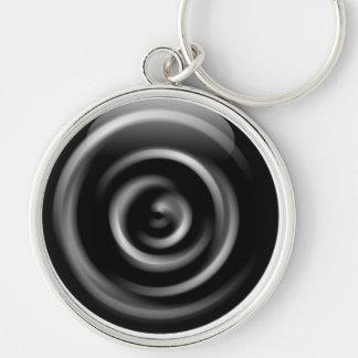 black/white swirl keychain