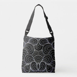 BLACK & WHITE SWIRLS CROSS BODY BAG