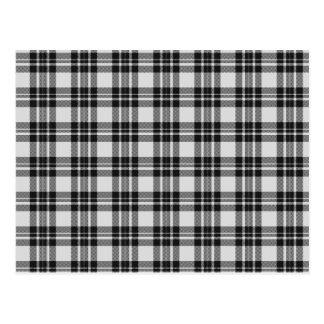 Black&White Tartan Postcard