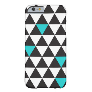 Black White Teal Turquoise Geometric Triangles Barely There iPhone 6 Case