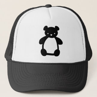 Black white teddy bear hat