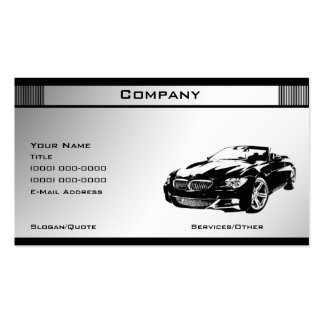 Black & White Template 5 Business Card