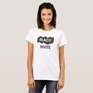 black white text image T-Shirt