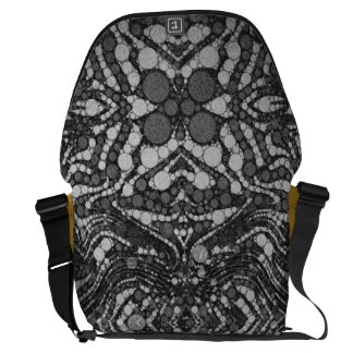 Black&White Textured Abstract Commuter Bags