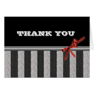 Black & White Thank You Notes Greeting Card
