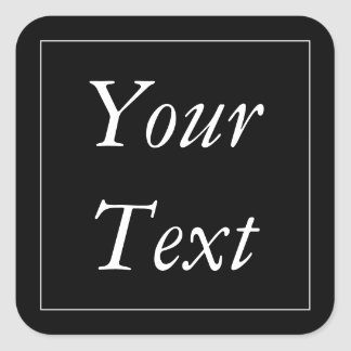 Black & White Thank You Stickers and Favor Labels