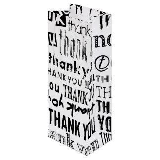 Black & White THANK YOU Typography Gift Bag