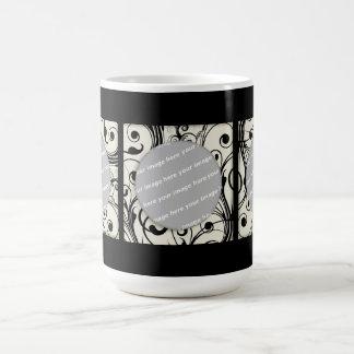 black/white three square frame Mug