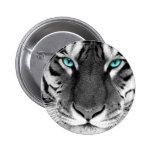 Black White Tiger Button
