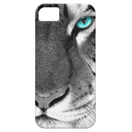 Black White Tiger iPhone 5 Cases
