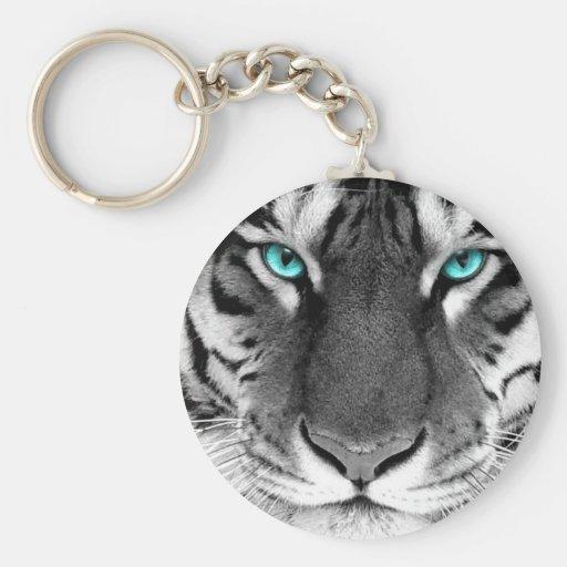 Black White Tiger Keychains