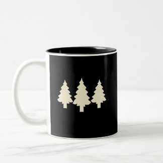 Black/White Trees Two-Tone Coffee Mug