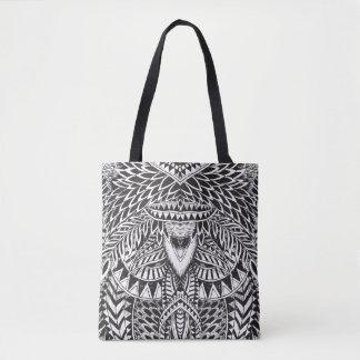 Black & White Tribal Geometric Pattern Tote Bag