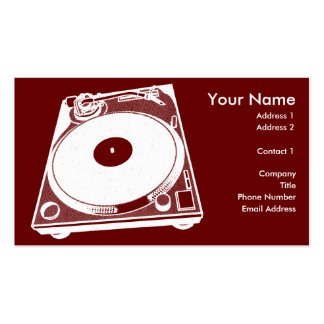 Black & White Turntable Business Card Template