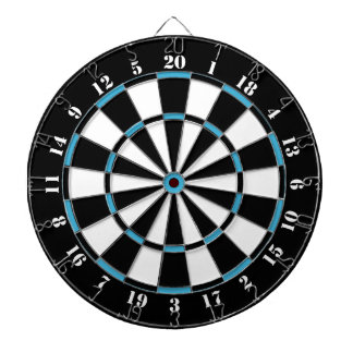 Black White Turquoise Blue Dart Board
