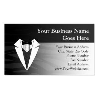 Black/White Tuxedo Business Card Template