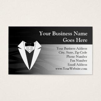 Black/White Tuxedo Business Card