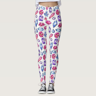 Black & White Unicorn Sketch - Colorful Polka Dots Leggings